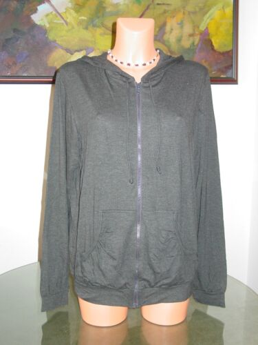 NWT Cosabella GIA Hoodie, sz L Heather Charcoal