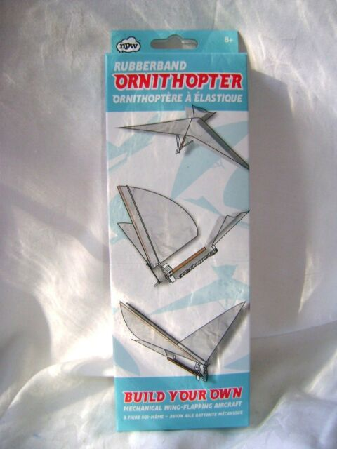 NEW RUBBER BAND POWERED ORNITHOPTER PLANE AEROPLANE? BIRD? MECHANICAL WINGS NPW