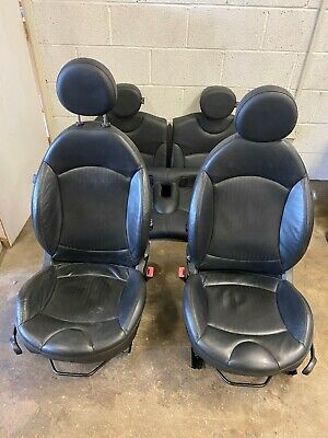 MINI COOPER S JCW R56 BLACK HEATED LEATHER SEATS SET INTERIOR