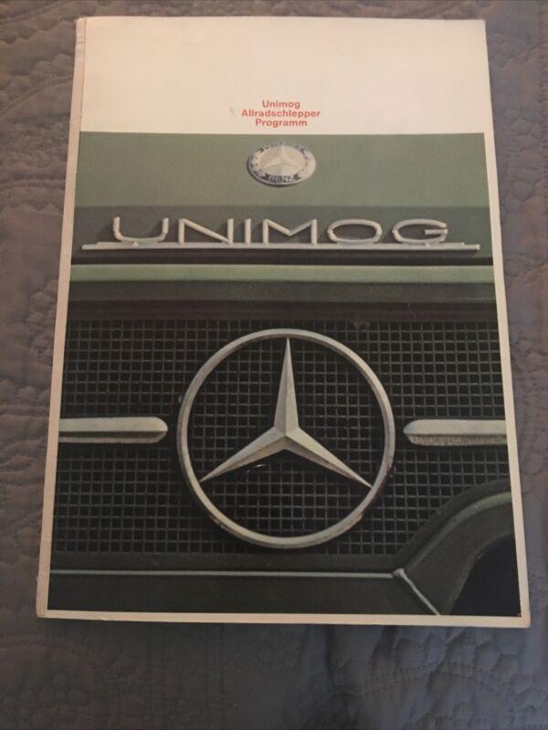 Vtg RARE UNIMOG book truck Mercedes Benz German Language Dealer Booklet Daimler
