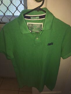 BRAND NEW Superdry Classic Fit Pique Polo shirt (green)