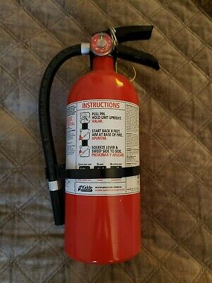 Kidde Dry Chemical Fire Extinguisher Home Car Auto Garage With Bracket