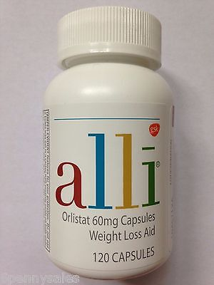 Alli Weight Loss Aid 120 Pill   Capsule Refill Pack Orlistat 60Mg Ali Ally Allie