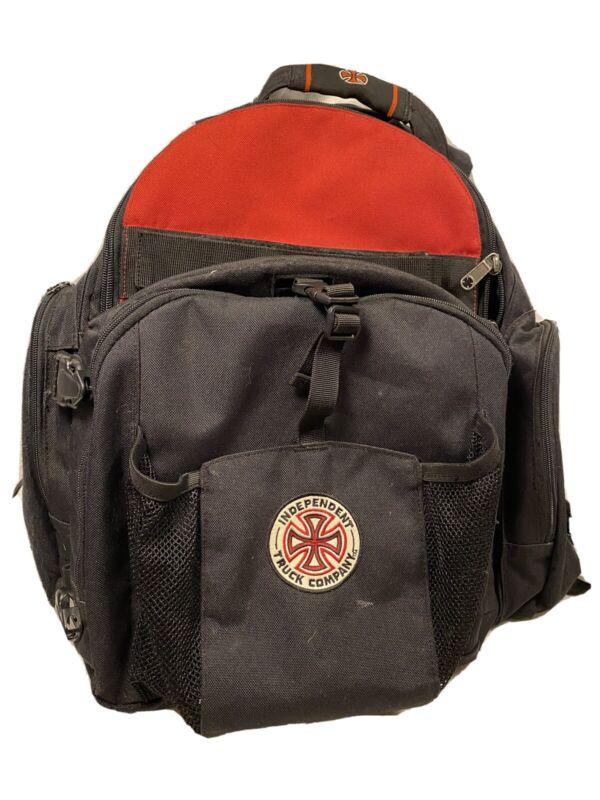 Vintage INDEPENDENT TRUCKS Skateboard Backpack Red/White/Black Rare