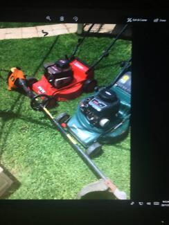 2 x 4 stroke mowers and 1 whipper snipper parts or fix