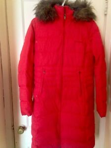 Ladies Columbia Hooded Long Parka Size Large