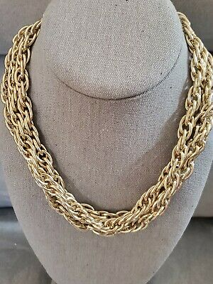 60s -70s Jewelry – Necklaces, Earrings, Rings, Bracelets Vintage 1960s Gold Tone Aluminum Rope Chain $16.00 AT vintagedancer.com