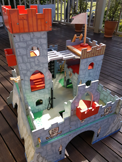Quality wooden medievil toy castle
