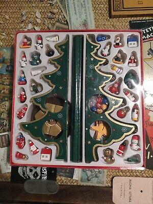Vintage decorazioni ornament wooden wood legno addobbi Natale Christmas albero
