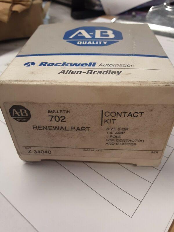 ALLEN BRADLEY BULLETIN 702 RENEWAL PART CONTACT KIT Z-34040