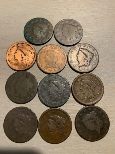 LARGE CENTS - 1816-1856, - $9.75 EACH