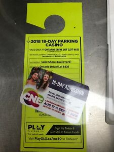 CNE 18 day entrance and parking pass
