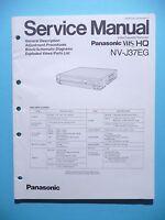 Servicio Manual De Instrucciones Para Panasonic Nv-j37eg, Original - panasonic - ebay.es