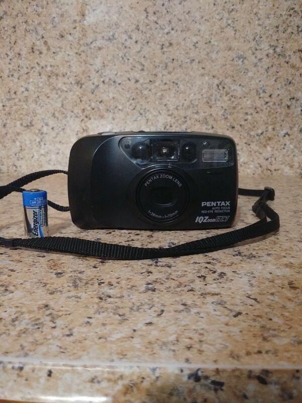 Pentax IQZoom EZY 35mm Point & Shoot Film Camera Auto Focus RedEye Reduction