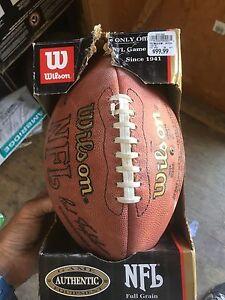 Brand New NFL Wilson Leather Football