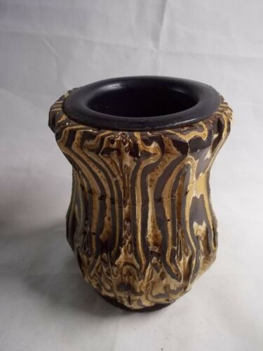 New Zealand PONGA VASE Unique Rare Hand Crafted UNREAL One Of A KIND -11