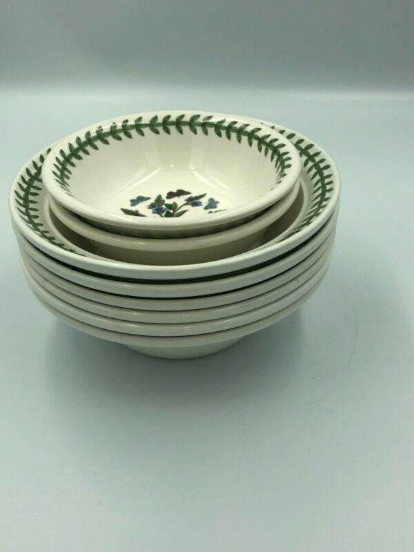 "Portmeirion Botanic Garden Soup/Cereal Bowl 6.5"" - Set Of 6 (+2) ENGLAND"