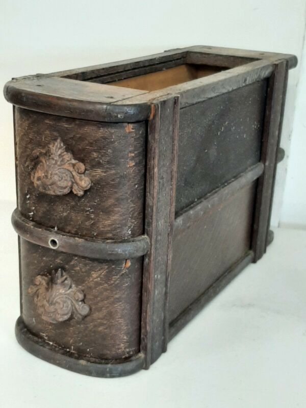 Antique Treadle Sewing Machine Oak Drawers with Frame