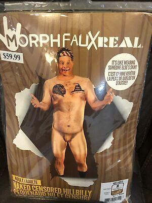 MorphFauxReal, Adult Naked Censored Hillbilly MORPH SUIT COSTUME, FULL SKIN Man