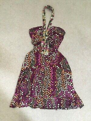 Issa London silk jersey halter dress, size 12