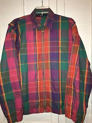 Polo Ralph Lauren Womens Large Multi-Color Light weight Full Zip Up Jacket