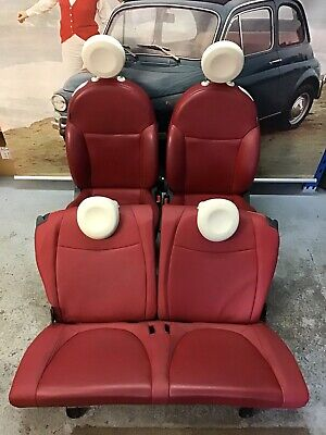Fiat 500 Red Leather Seats Front And Rear Seats Perfect For An Upgrade