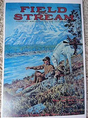 Field And Stream Magazine Cover Poster, November 1917 Artist Watson