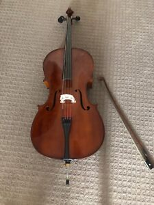 Used 3/4Cello with Bow, Chair strap and Hard case
