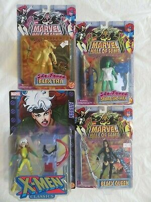 Marvel Female Heroes (Lot of 4 Marvel female Super Heroes - Rogue, Elektra, She-Hulk, Black Queen)