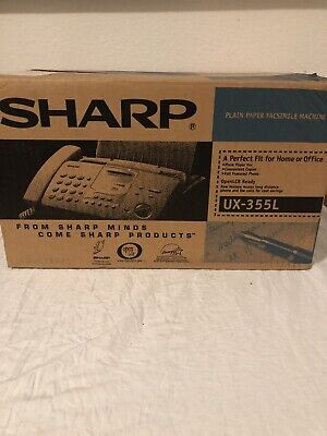 New Sharp Ux-355l Plain Paper Facsimile Machine