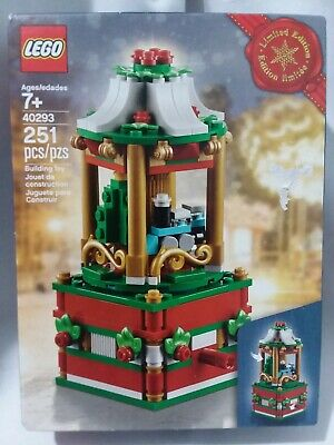 Lego Limited Edition Mini Rotating Carousel 251 Pieces NIB 40293 Holiday 2018