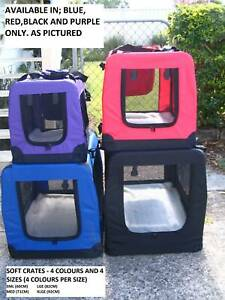 NEW Pet /Dog Puppy SOFT CRATES –FROM $36-4 SIZES/4COLOURS