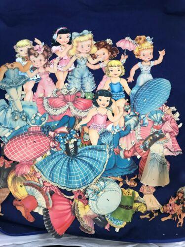 Vintage Estate  Find Paper Doll Lot Several Figures and Many Clothes Huge