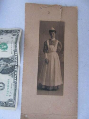 RARE IDENTIFIED 1905 Antique Photo, Nurse in Uniform, GIFT, Spanish American War