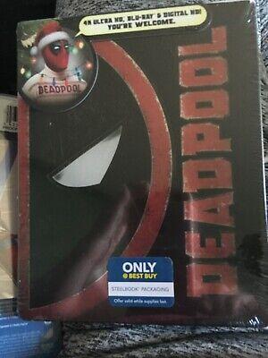 DEADPOOL STEELBOOK (4K UHD + Blu-Ray + Digital Copy) Christmas Version; BN!