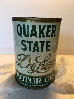Used, Quaker State  DeLuxe Motor Oil Tin Can for sale  Shipping to Canada
