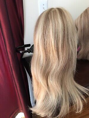 Custom Made 100 % Human European style Hair Wig Small Golden Blonde