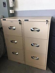 Three drawer filing cabinets Banyo Brisbane North East Preview