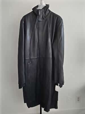 50% OFF!! ARMY OF ME LAYERED BLACK LEATHER COAT HEAVY!