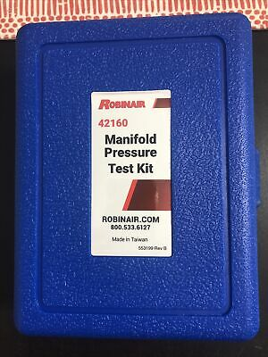 Robinair 42160 Manifold Pressure Test Kit Brand New Free Shipping