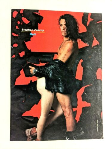 RATT / STEPHEN PEARCY / MAGAZINE FULL PAGE PINUP POSTER CLIPPING (5)