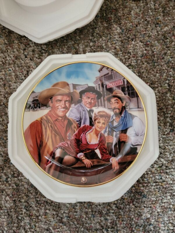 The Official 40th Anniversary Gunsmoke Collector Plate by Franklin Mint