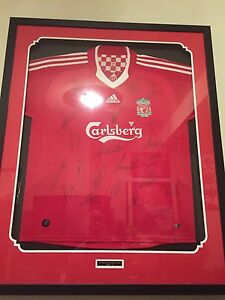 Liverpool Football Club framed signed 2009/10 jersey Chisholm Tuggeranong Preview