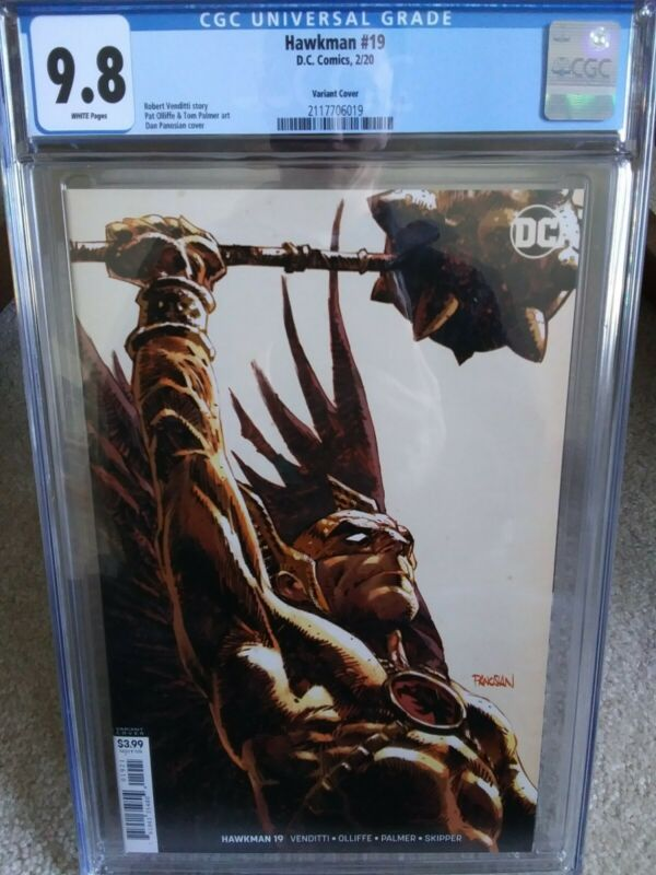 Hawkman #19 cgc 9.8 Dan Panosian variant cover combined s&h new flawless case