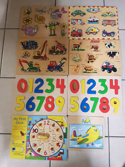 8 x Timber puzzles $20 ono the lot