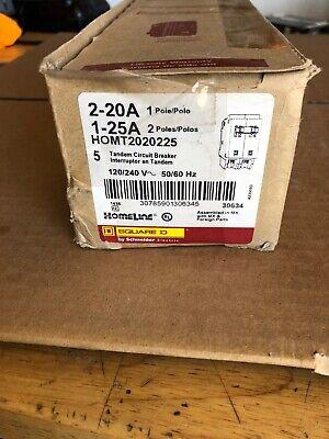 Sq D Homt2020225 2025a Duplexp 120240v 1homeline Circuit Breaker Lot Of 5