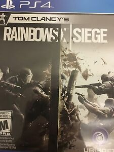 Rainbow Six Siege PS4 Mint Condition