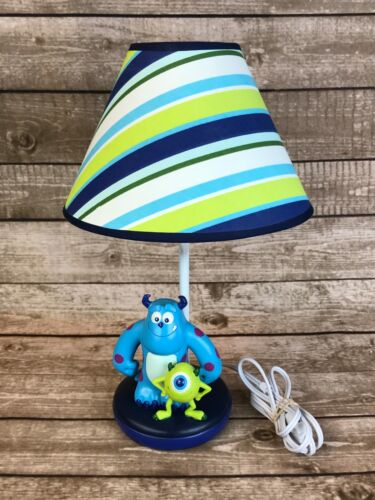 """Disney Monster's Inc 17"""" Nursery Lamp With Shade Mike & Sully"""