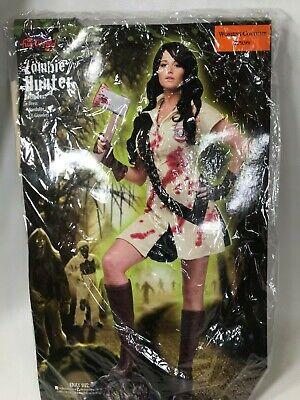 Womens Zombie Hunter Costume (Sexy Zombie Hunter Costume by Fun World Women's size Medium/Large)