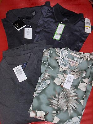 Izod Herren Hemden (Vier Neu Freizeit Herren Golf Hemden Drei M und eine Sm. mit Etikett Izod /)